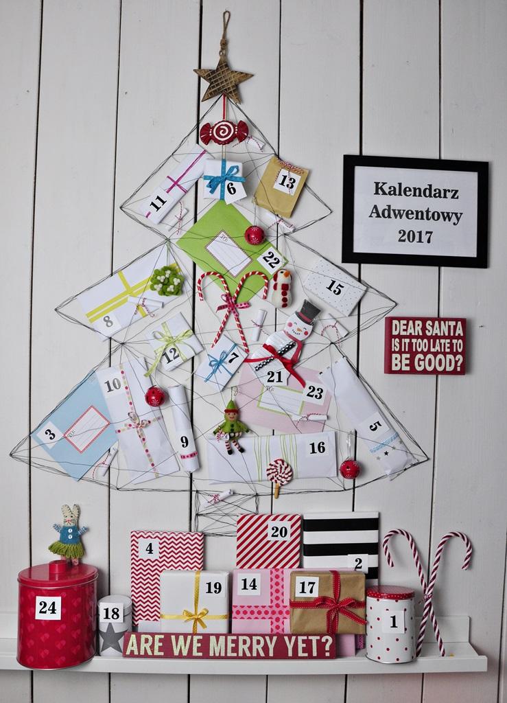 Pomysł na kalendarz adwentowy w kształcie … choinki :) Advent calendar AD 2017 :)