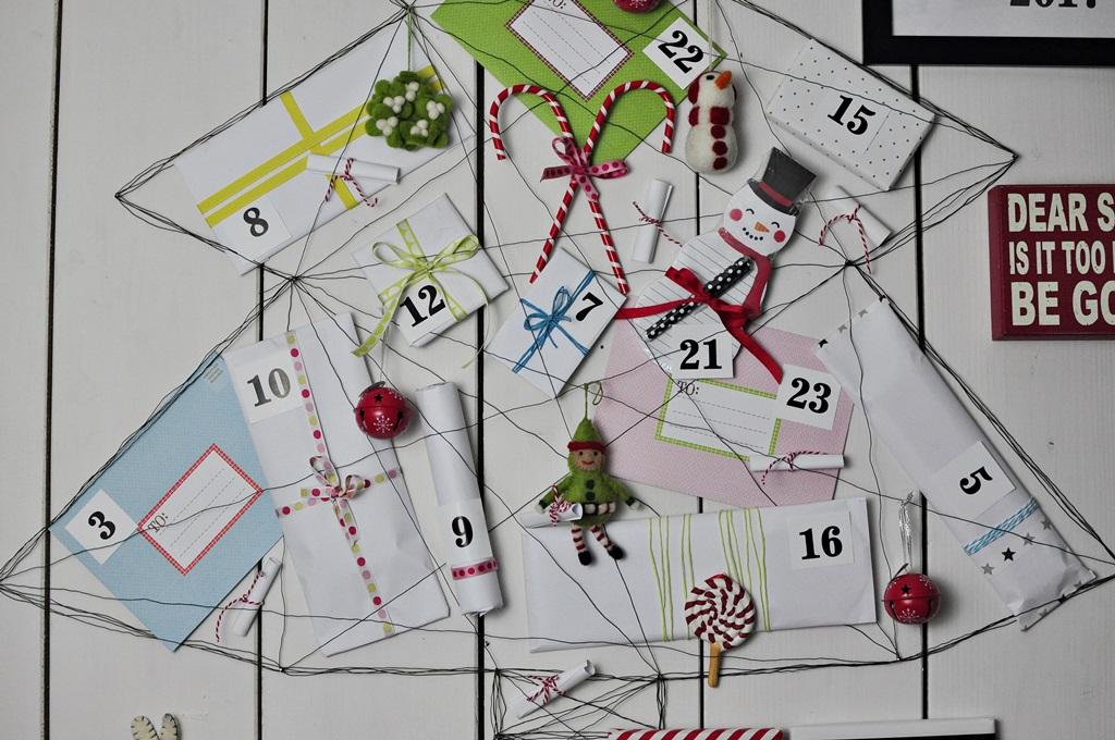 Pomysł Na Kalendarz Adwentowy W Kształcie Choinki