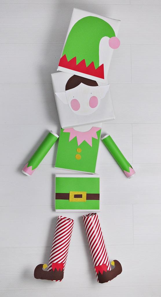 Jak zapakować prezent - świąteczny elf