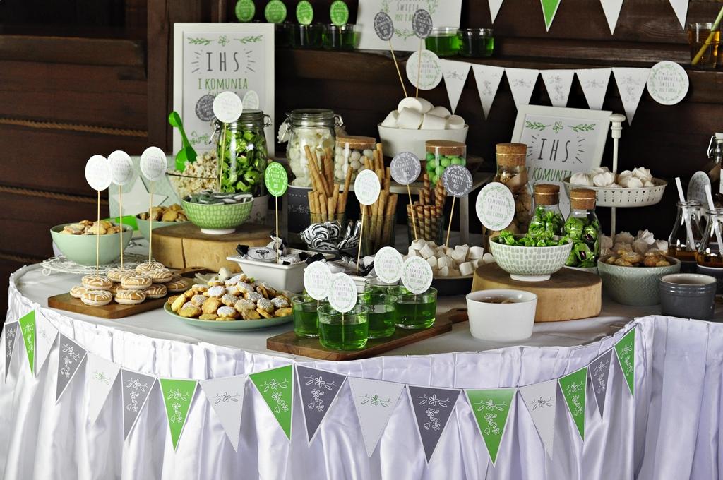 dekoracja stołu na komunię