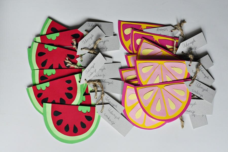 Torebka arbuz i grapefruit czyli prezenty na zakończenie roku szkolnego i zadania/wyzwania dla całej klasy na wakacje ;)