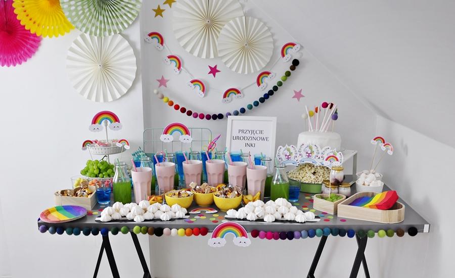 Przyjęcie Urodzinowe w stylu JEDNOROŻCA i TĘCZY – nasze najpiękniejsze jak dotąd … :)
