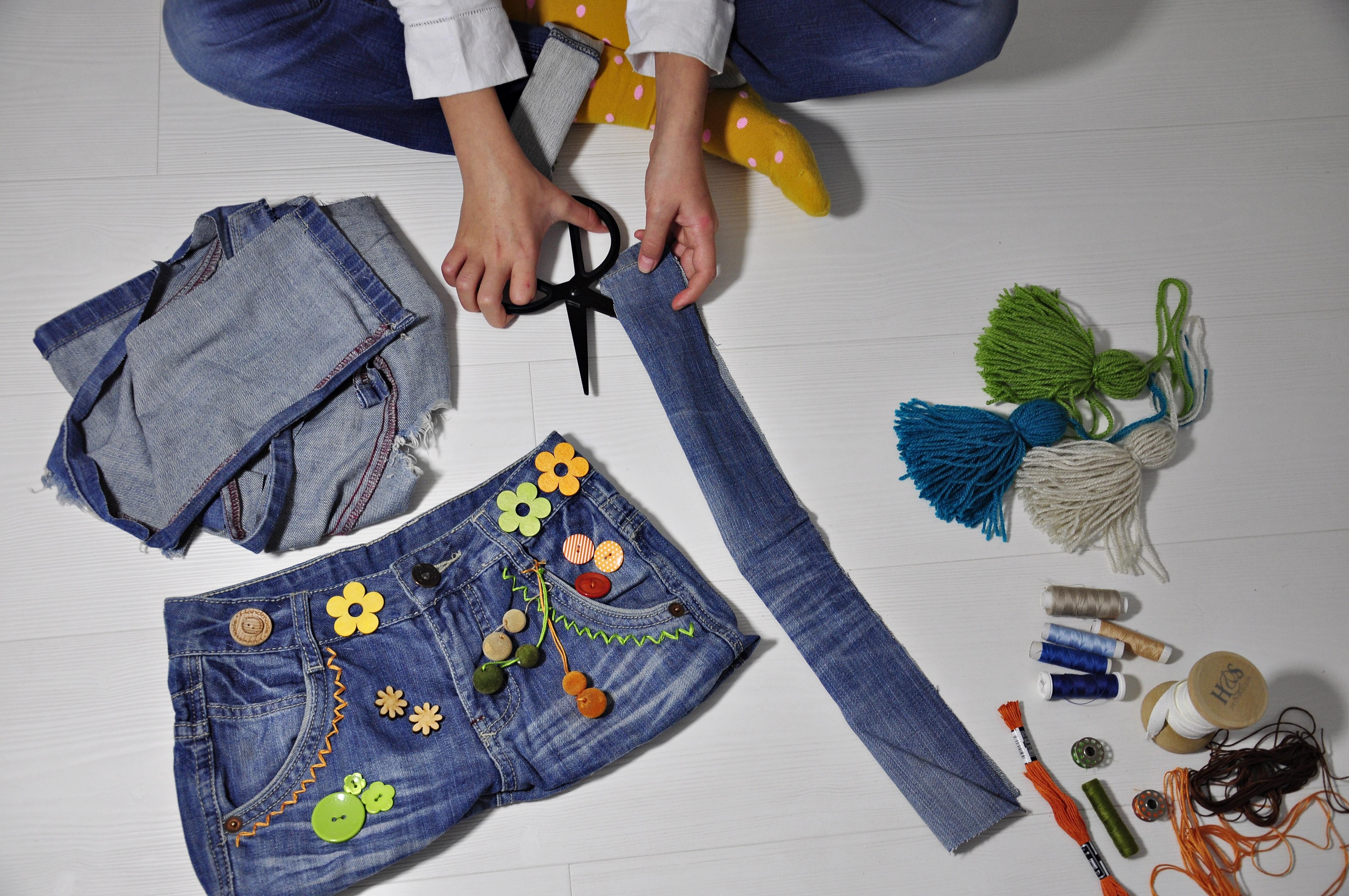 pasek do torby ze spodni dżinsowych