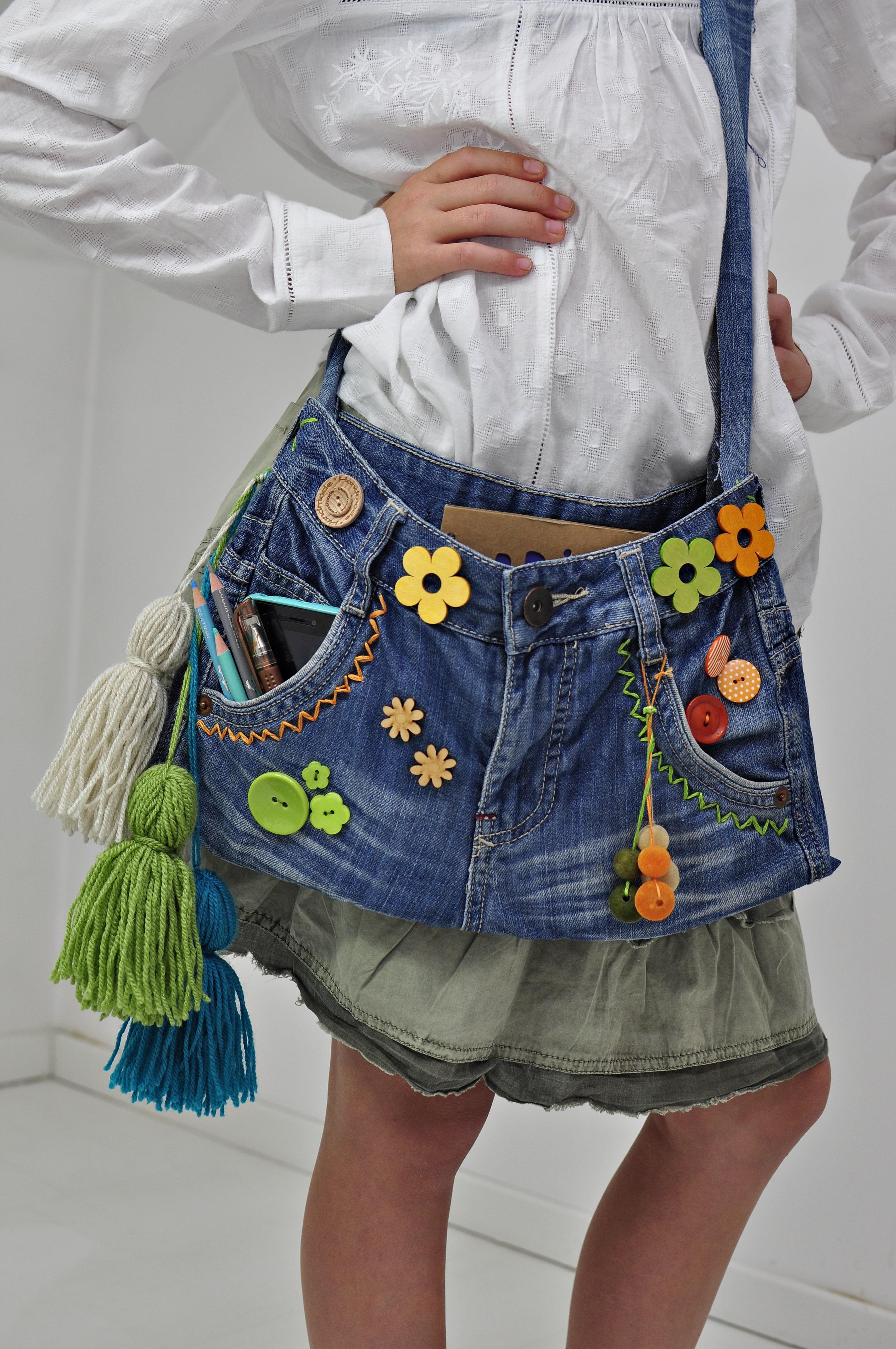 torebka ze starych jeansów