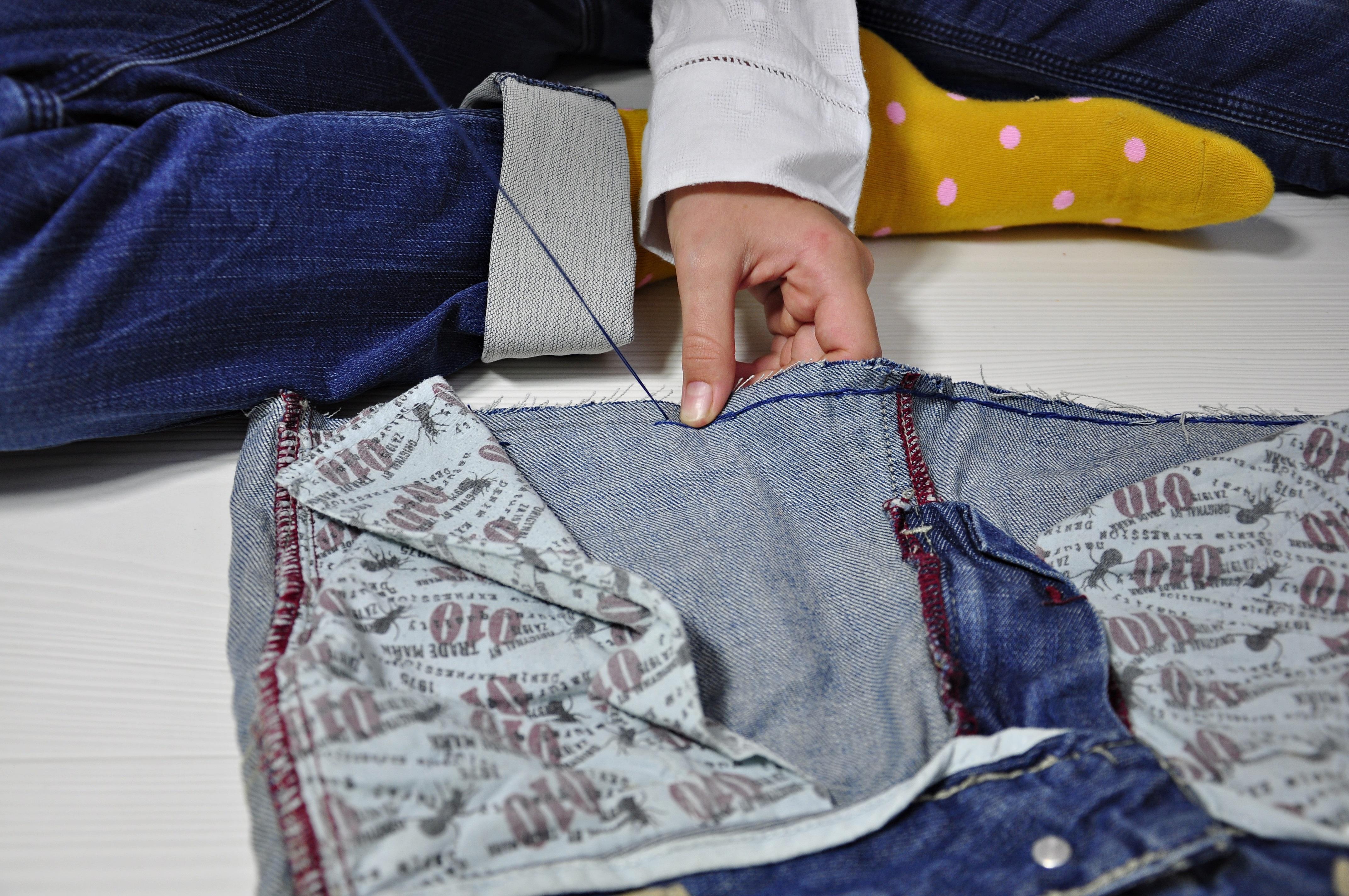 Torba ze spodni dżinsowych jak ją uszyć - instrukcja dla dzieci