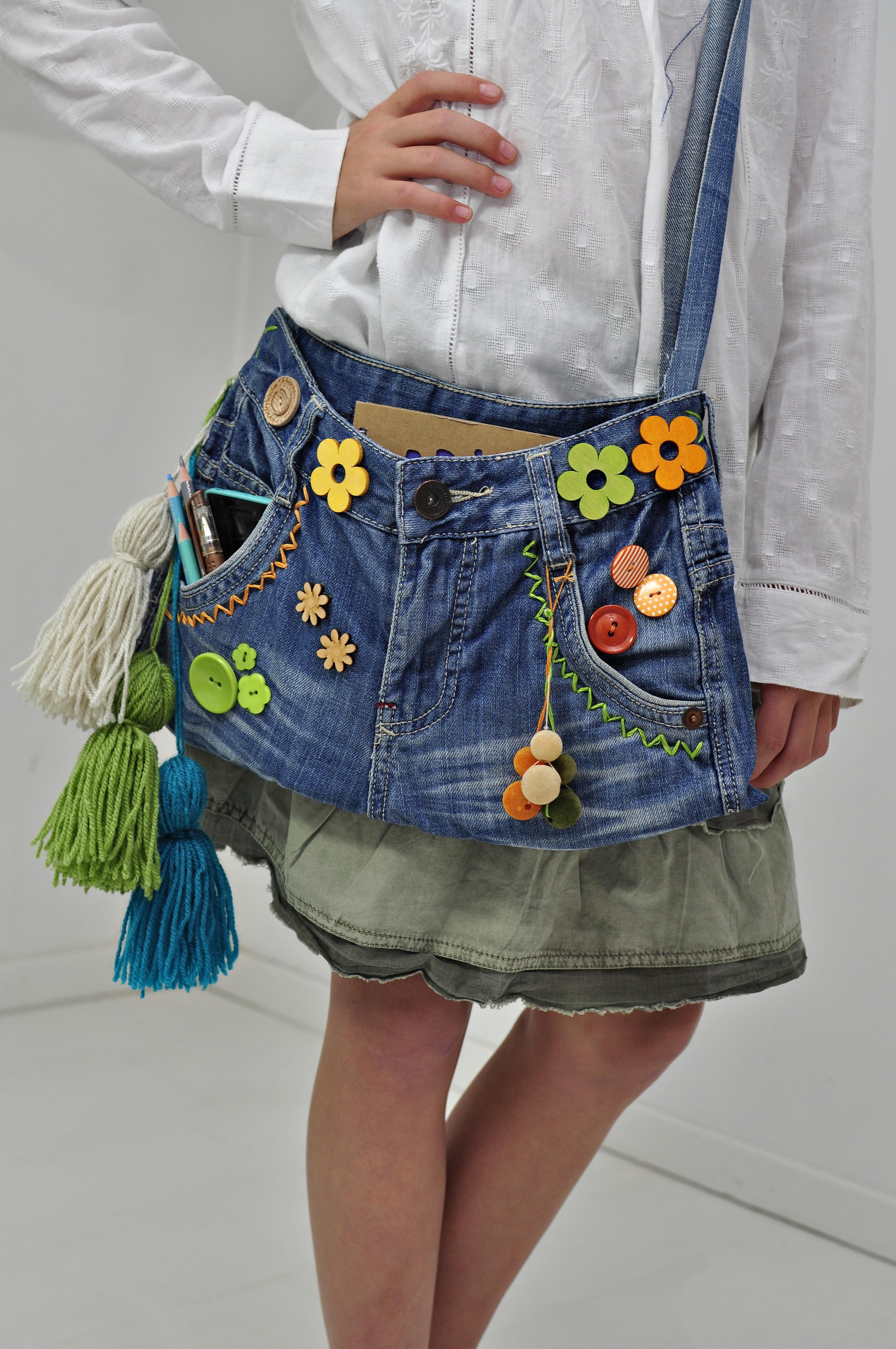 Torba ze spodni dżinsowych efekt pracy