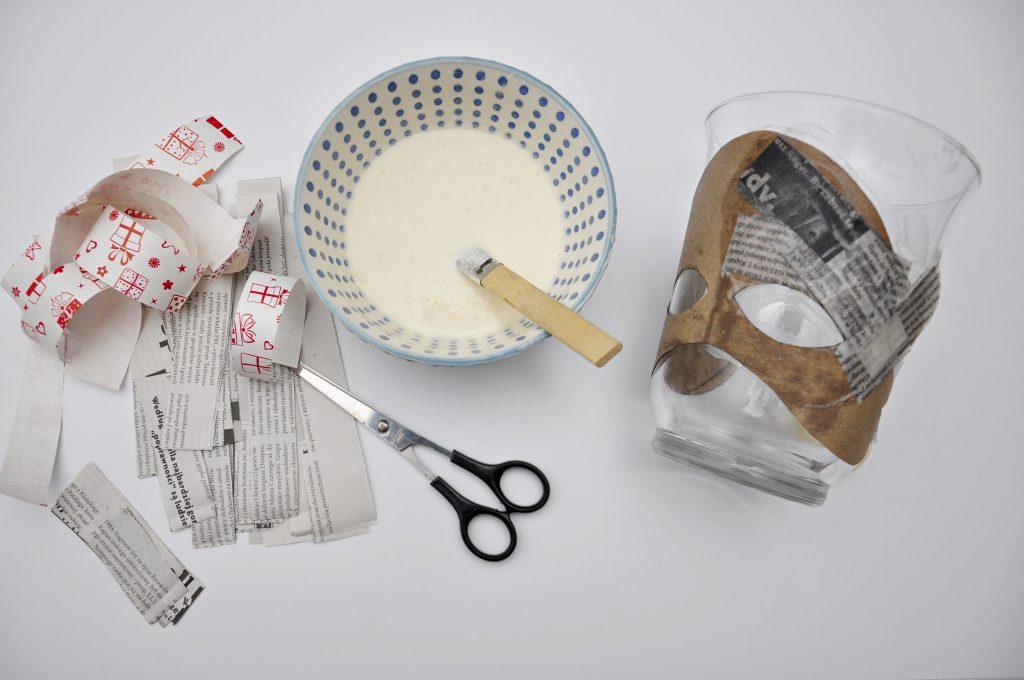 Maska z papier mache