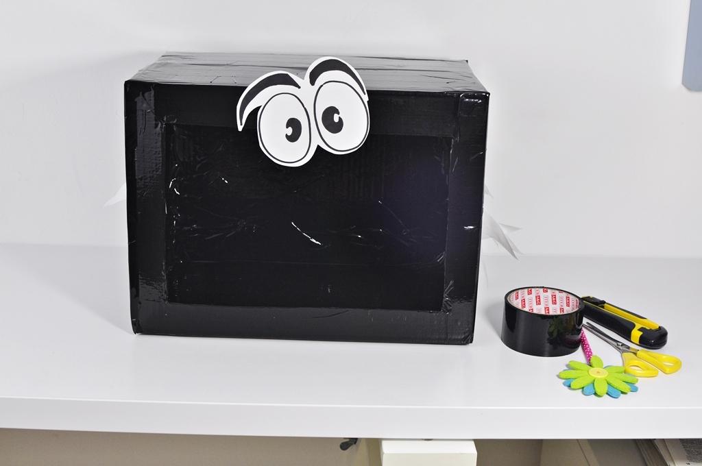 zabawy dla dzieci w domu pudełko zgadywanka