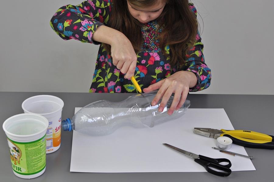 jak zrobić coś fajnego z plastikowej butelki