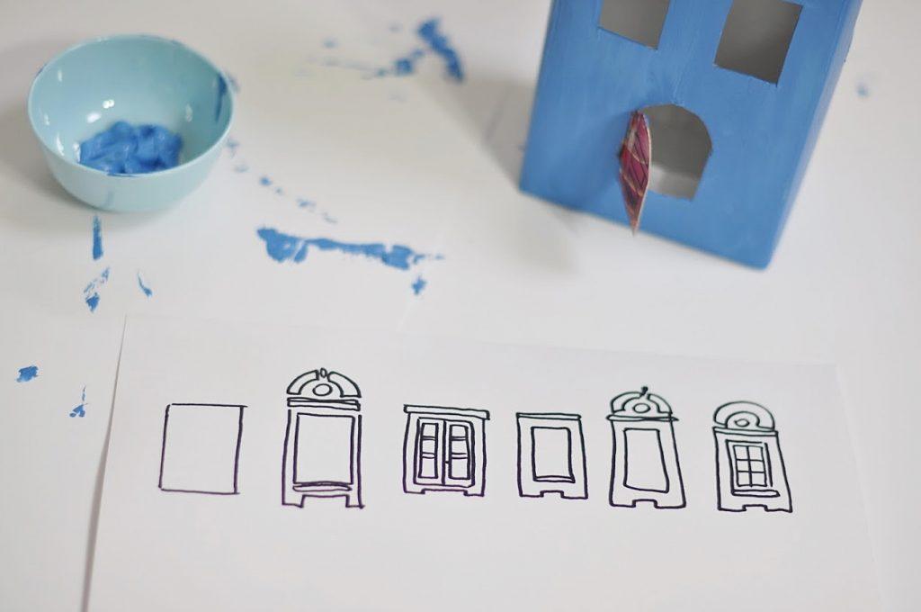 jak zrobić domek z kartonu