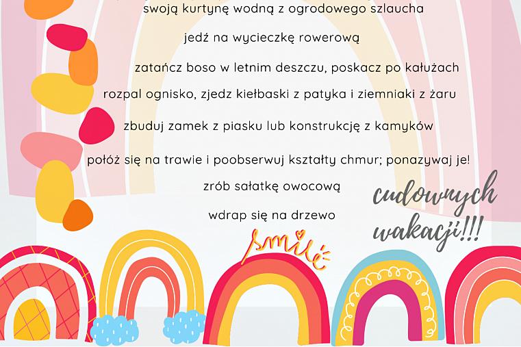 lista zadań wakacyjnych dla dziecka