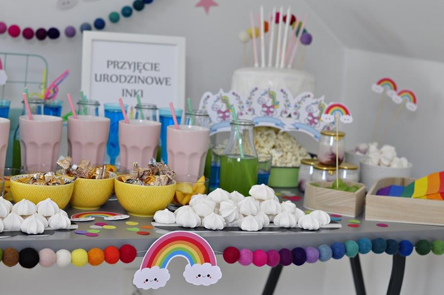 Wspaniały Przyjęcie Urodzinowe w stylu JEDNOROŻCA i TĘCZY – nasze AA24